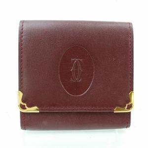 Cartier Coin Purse Bordeaux Leather